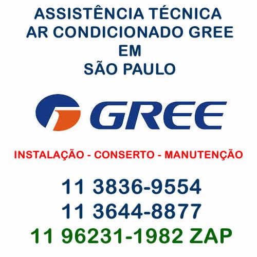 assistência técnica ar-condicionado Gree