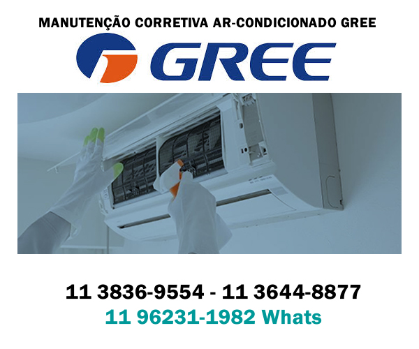 manutenção corretiva ar-condicionado Gree