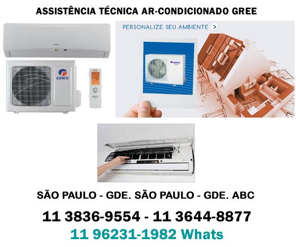 assistência técnica ar-condicionado Gree SP