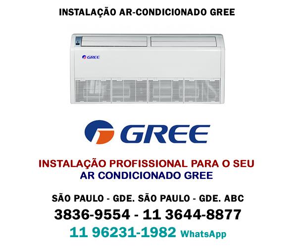 instalação ar-condicionado Gree SP